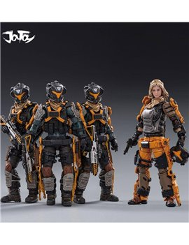 Joytoy 1/18 19th Army Nether United & Anna Set of 4 Soldier Figures Model