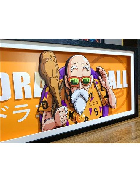 Dragon Ball Goku Vegeta Buu Roshi 3D Paper Art Stereoscopic Painting Set