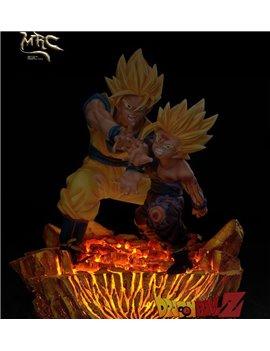 MRC Dragon Ball 1/6 Father Son Kamehameha Rerun Statue