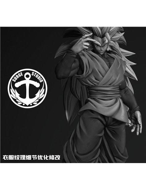 Surge Studio Dragon Ball 1/4 Super Saiya 3 Black Goku Resin Statue