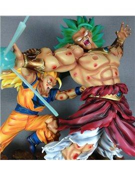 Djfungshing Dragonball Kai Goku 3 VS Broly 3 Battle Scene Resin Statue Diorama
