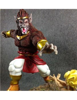 "Dragonball 12"" BROLY OHZARU Vs Goku Resin Statue"