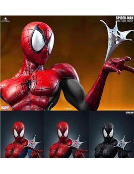 Queen Studios QS Marvel 1/1 Spider-man Resin Bust Statue Red & Black Version