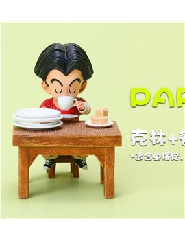 LEAGUE Studio Part2 Kuririn Drinking Coffee ( With Desk)