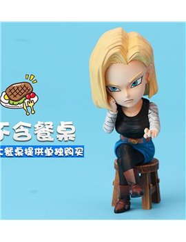 LEAGUE Studio Android 18 Eating Part1 ( Without Desk)