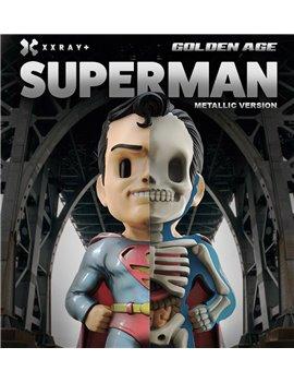 XXRAY Jason Freeny Super Man Dissected Superman Metal Version Vinyl Figuer