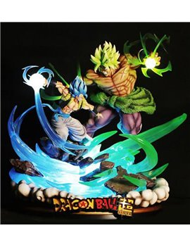 Master Grade Broly VS Gogeta With LED Resin Statue (Sold Out Display)