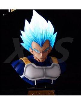 XS Studios Dragonball Super Saiyan Vegeta Bust Blue Hair Ver.