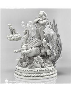 SHK Studio Dragonball One Life Buu Resin Statue with Initial Gift Ubu