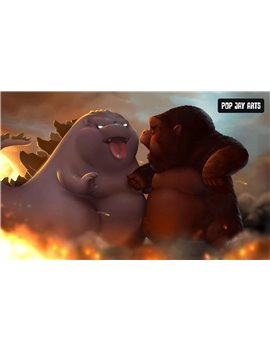 Pop Jay Arts Ziboo VS Kingboo Battle Resin Statue
