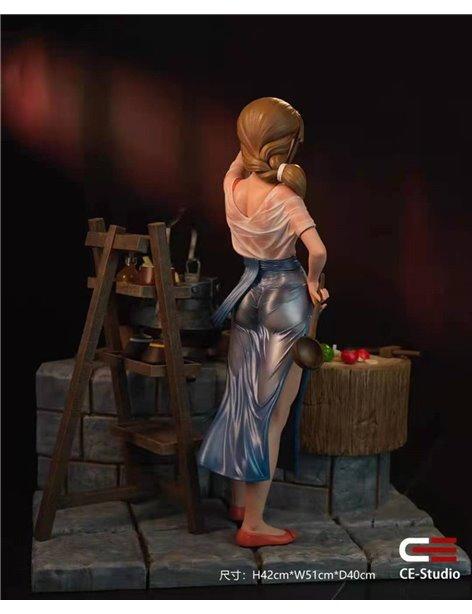 Creation Epic Studio Girl Chef Resin Statue Diorama
