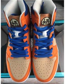 Custom-Made Dragonball Goku Air Jordan Basketball Shoes
