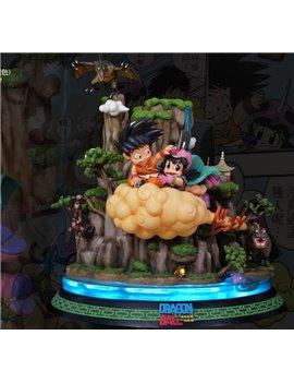 JS Studio Dragonball Kid Goku & Chichi Resin Statue