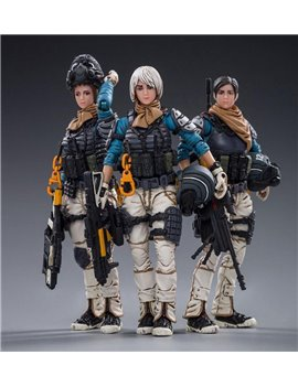 JOYTOY 1/18 Starhawk 12th Peron Patrol Action Figures Set of 5 PVC Soldier Model  (Sold out display)