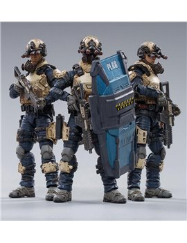 JOYTOY 1/18 War Stars Indigo Team Action Figures Set of 3 Soldier Model JT0067