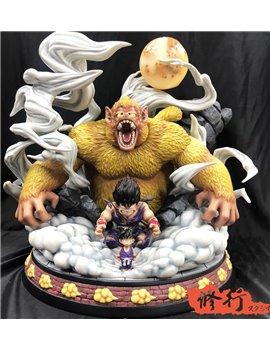 Master Grade Dragonball Goku Oozaru Evolution Resin Statue Gold