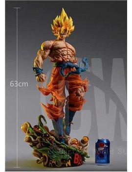 Cartoon World Studio Dragon Ball Super Saiyan Son Goku 1/4 Resin Statue