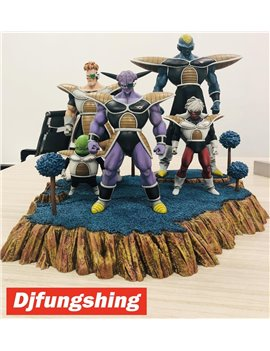 Djfungshing Dragonball 1/6 Ginyu Force Limited Resin Statue With Dual Bases (Sold out display)