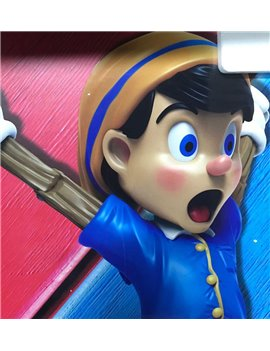 MIGHTY JAXX Blue PINOCCHIO Figure Statue 50CM (Sold out dispaly)